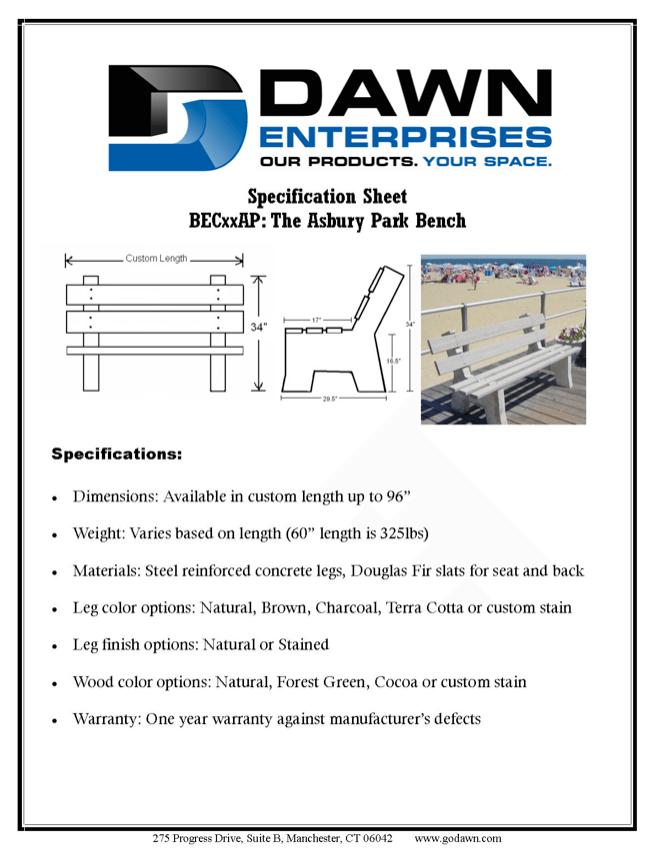 Astounding Concrete Asbury Bench Beatyapartments Chair Design Images Beatyapartmentscom