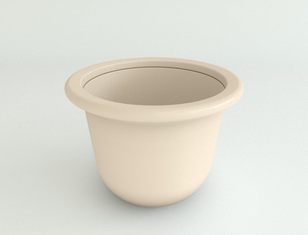 Plastic Contemporary Planter