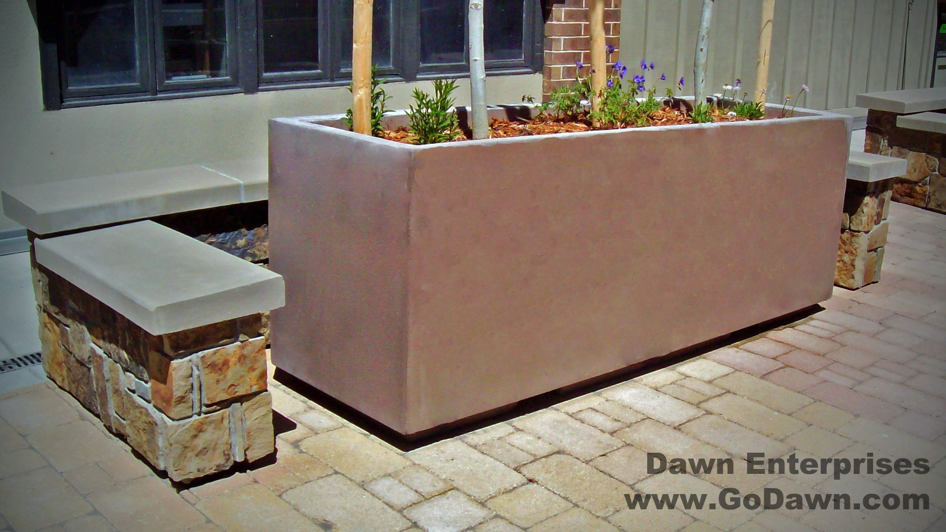 Rectangular Planter with Toe Kick