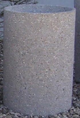 24 Inch Tall Round Concrete Cigarette Urn