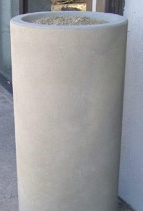 36 Inch Tall Round Concrete Cigarette Urn