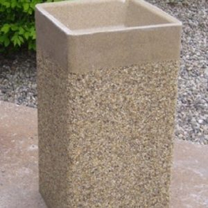 24 Inch Square Stone Aggregate Ashtray