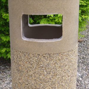 Stone Ash & Trash Receptacles