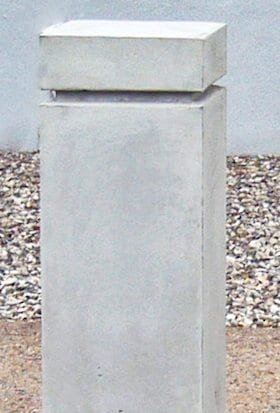 10 Inch Square Concrete Bollard with Peaked Top