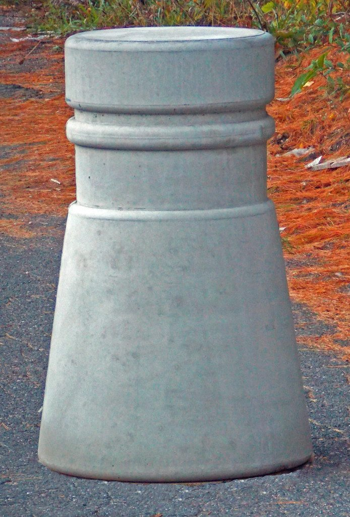 36 Inch Tall Freestanding Concrete Bollard