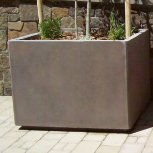 Square Concrete Planter W/ Toe Kick