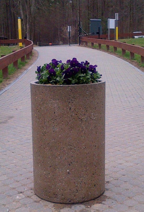 2ft Cylinder Concrete Planter