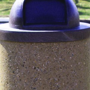 35 Gallon Round Concrete Waste Receptacle