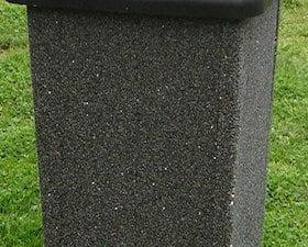 35 Gallon Square Stone Aggregate Waste Receptacle