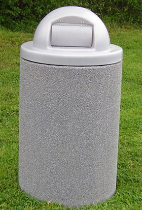 55 Gallon Square Stone Aggregate Waste Receptacle