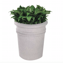 Bay Shore Round Fiberglass Planter