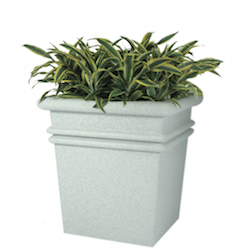 Bay Shore Square Fiberglass Planter