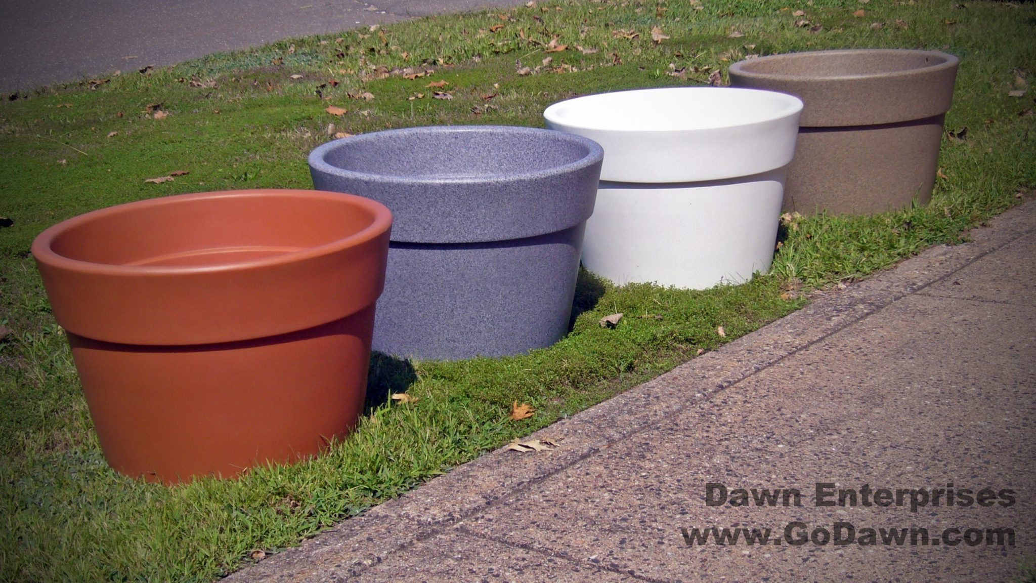 self planter watering cute large dot planters