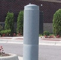10 Inch Ribbed Bollard Cover
