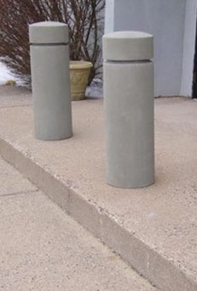 12 Inch Round Concrete Bollard with 1 Reveal