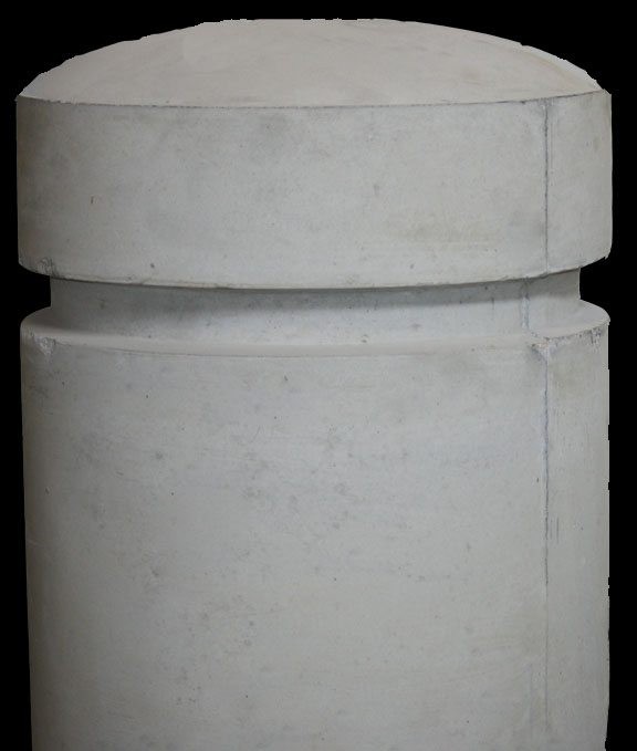 24 Inch Round Concrete Bollard with 3 Inch Dome Top