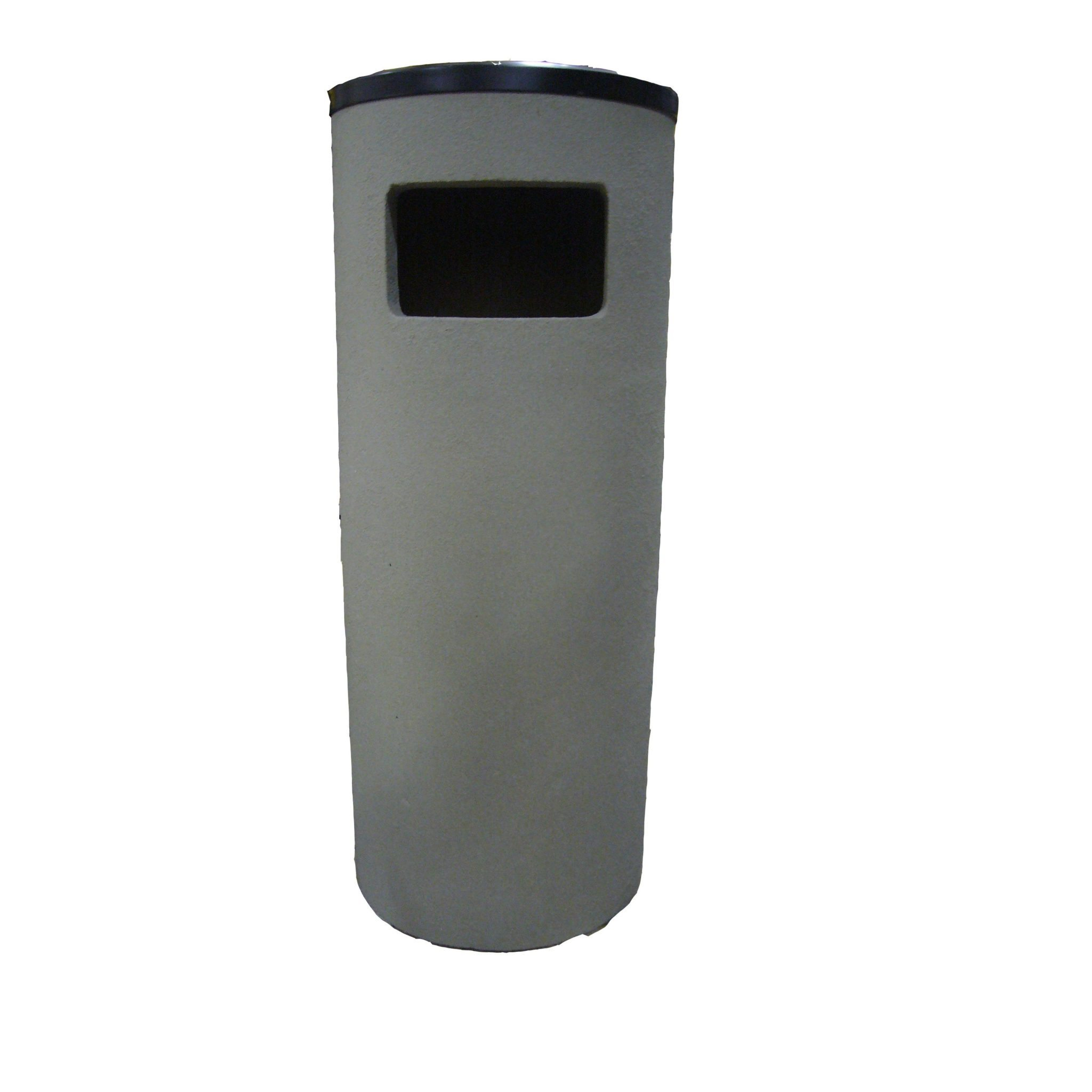 38 Inch Round Concrete Combination Waste Receptacle & Ashtray