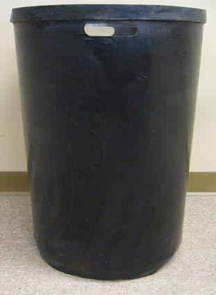 Round Plastic Liner 35 Gallon Concrete Receptacle