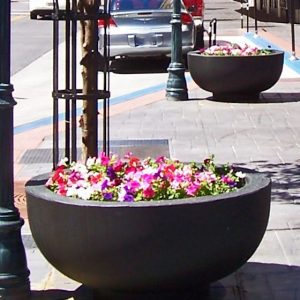 4 Foot Round Concrete Bowl Planter