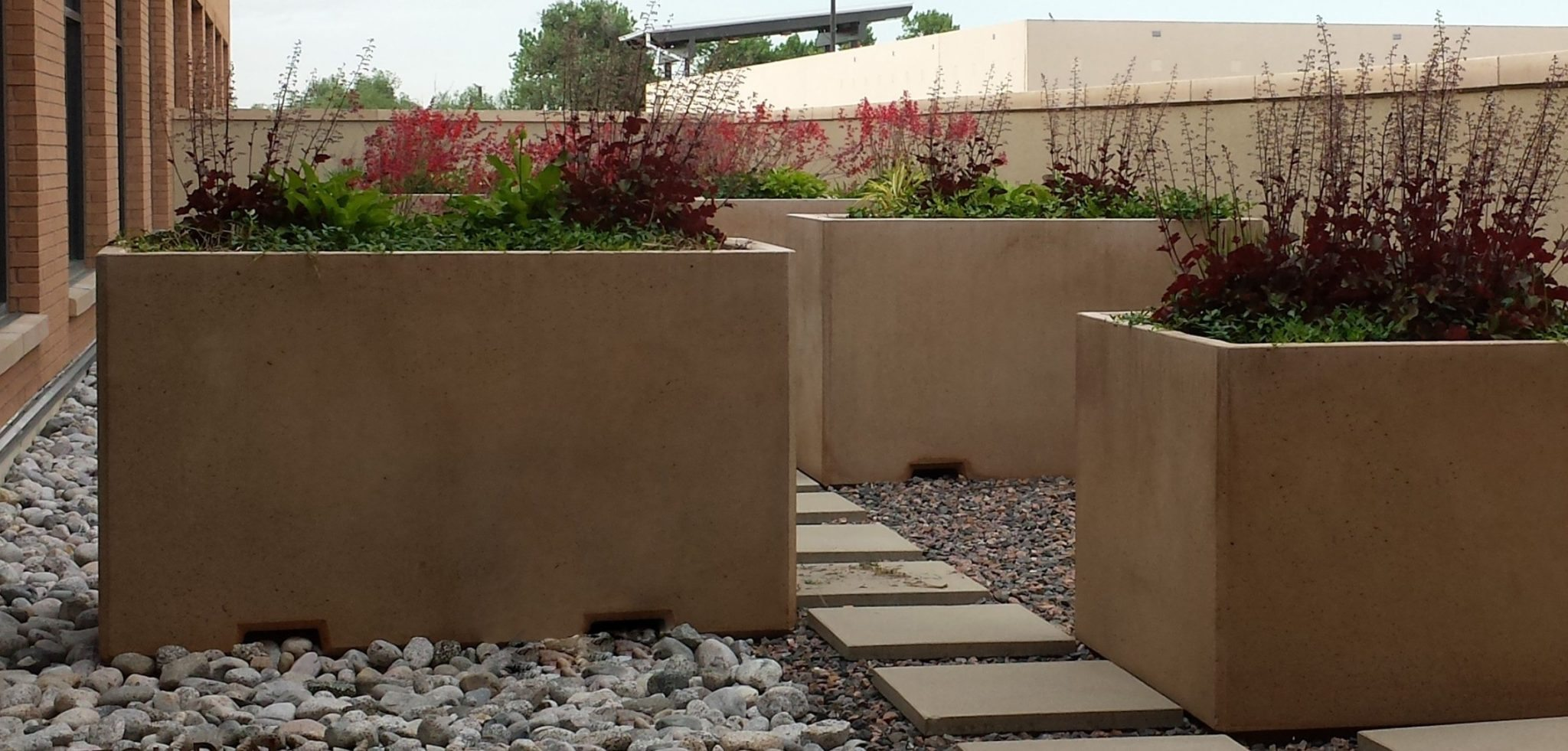 6ft Rectangular Concrete Planter