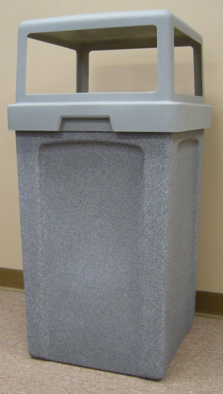 40 Gallon Square Plastic Receptacle