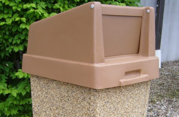 Square Plastic Hood Top For 35 Gallon Receptacle 1