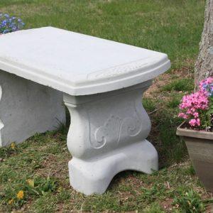 Concrete Vineyard Bench w/ Straight Seat