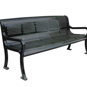Metal Roll Perforated Bench