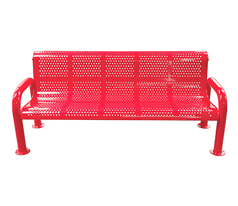 Metal U-Leg Perforated Bench