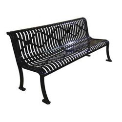 Roll Metal Armless Bench