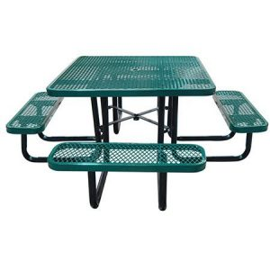 """46"""" Square Expanded Metal Table"""