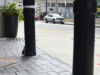 Removable Embedded Sleeve Steel Security Pipe Bollard