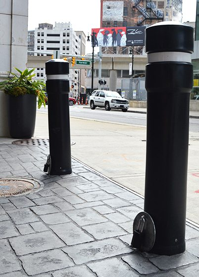 Removable Embedded Sleeve Steel Security Pipe Bollard