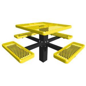 Steel Single Post Table