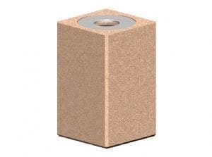 Square Concrete Receptacles