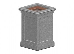 Concrete Trash Can
