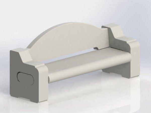 Concrete Bench from Dawn Enterprises