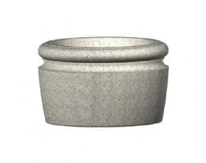Wheatland Series Round Concrete Planter