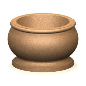 Artisan Series Round Concrete Planter