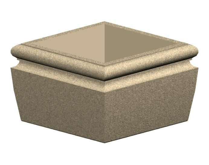 Square Concrete Planter from Dawn Enterprises
