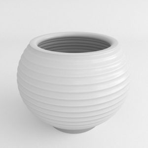 Grooved Plastic Planter
