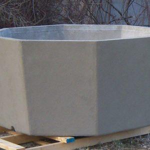 Octagonal Concrete Planter